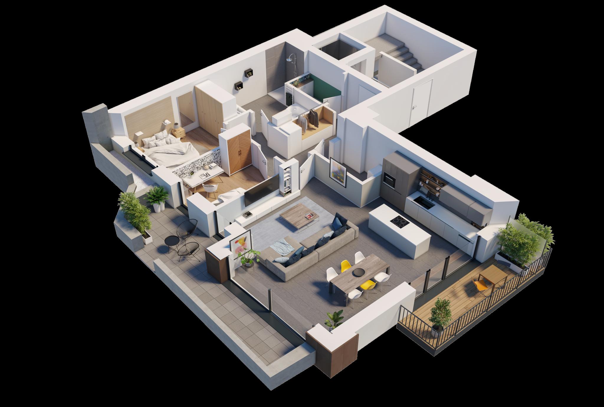 Apartment 1D